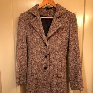Express wool blend coat